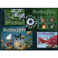 Бабочки Гамбия 2015 год 2 малых листа и 2 блока (М)