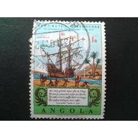 Ангола, колония Португалии 1972 парусник