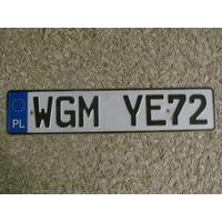 Автомобильный номер Польша WGMYE72