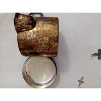 Немецкая кружка термос, серебрение. предположительно 40-е года.