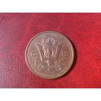 1 цент 1999 год Барбадос