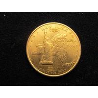 СЕВЕРНАЯ АМЕРИКА США 25 центов (квотер), 2001 г.,Р, Штат Нью-Йорк (New York)
