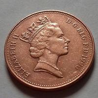 2 пенса, Великобритания 1996 г., AU
