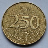 Ливан, 250 ливров 2000 г.