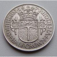 """Южная Родезия. """"Британская колония"""" 1/2 кроны 1947 год KM#15b"""