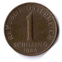 Австрия. 1 шиллинг. 1986 г.