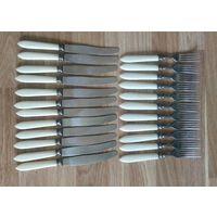 Ложки ,вилки ,ножи столовые СССР сборный лот 57 предметов как новые