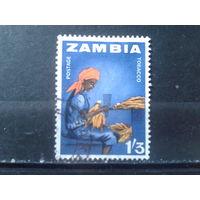 Замбия 1964 Стандарт, табак  1шиллинг 3 пенса