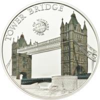 "Палау 5 долларов 2011г. ""Мир Чудес: Тауэрский мост"". Монета в капсуле; сертификат. СЕРЕБРО 25гр."