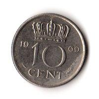 Нидерланды 10 центов 1969
