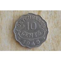 Сейшелы/Сейшельские острова/  10 центов 1943!