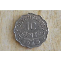 Сейшелы 10 центов 1943!