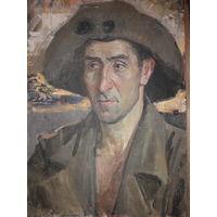 Картина из СССР Соцреализм. Холст Масло 35*50 см. Аукцион 5 дней