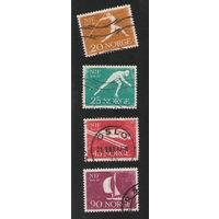 Норвегия гашеная полная серия спорт 1961