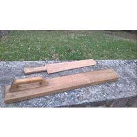 Доска для глажения (рубель) и лопатка для отбивания белья , дуб