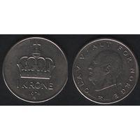 Норвегия km419 1 крона 1974 год (AB) (h02)