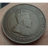 Канада. 1 цент 1910. Последний аукцион 2019.