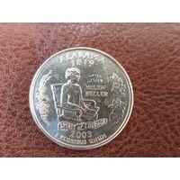 1/4 доллара 2003 США ( Квотер штата Алабама ) P