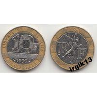 10 франков 1990 г. Франция.