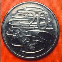 28-13 Австралия, 20 центов 1981 г.