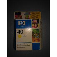 Струйный картридж HP(51640YE) Оригинал , просрочка