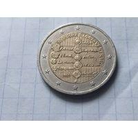 Австрия 2 евро, 2005 50 лет подписанию договора о нейтралитете Австрии