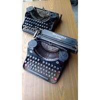 Две механические печатные Машинка Mercedes Prima Германия 1930-е года. Рейх. Цена за две!