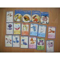 17 карточек с Покемонами