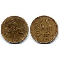 10 центов 1925, Литва