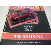 Модель ФЕРРАРИ - 1  360 MODEMA 1/43 в блистере и с журналом.