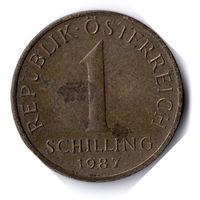 Австрия. 1 шиллинг. 1987 г.