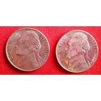 5 центов, США 1999 (Р); 2000 (D)