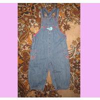 Кобинезон джинсовый для девочки, деми, р.86-92