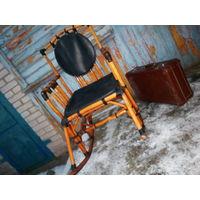 Кресло-качалка из настоящего совецкого ротанга