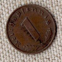Германия 1 пфенниг 1936 A/редкий переходный год/(Oct)