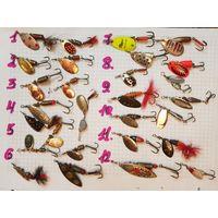 Для рыбалки блесна вертушки любая на выбор