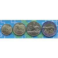 Набор монет Уругвай 1, 2, 5, 10 песо. UNC.