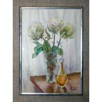 Букет роз, худ. Г. Капустин, акварель Весенний праздник