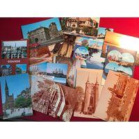 Гданьск и Поморье - открытки - 15 шт. 1980-90е Польша - цена за все!