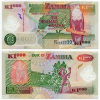 Замбия. 1000 квача (образца 2005 года, P44d, aUNC)