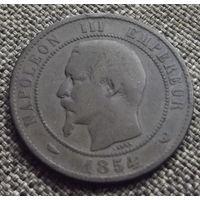 Франция. 10 сантимов 1854