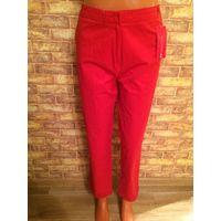 Стильные брюки на 50-52 размер, насыщенно красного цвета, марка Camaieu, отличное качество и состав:  97% хлопка и 3% эластана. Приобретала себе, но не подошли по размеру, очень классные и красивые, п