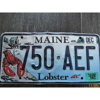 Номер автомобильный США  Maine lobster