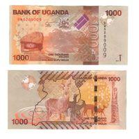 Банкнота Уганда 1000 шиллингов 2015 UNC ПРЕСС
