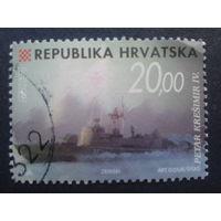 Хорватия 1998 стандарт, корабли Mi-6,5 евро гаш.