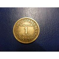 Франция 1 франк 1922 г.