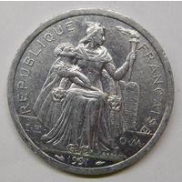 Новая Каледония 2 франка 1991 г