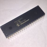 PIC16F917-I/P, 8 бит, Flash, PIC16F9xx, 20 МГц, 14 КБ, 352 Байт, 40 вывод(-ов), DIP PIC 16F917