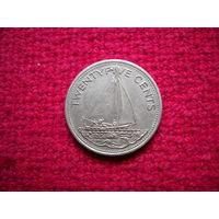 Багамские острова ( Багамы ) 25 центов 1998