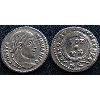 YS: Древний Рим, Константин I, медный фоллис 306-337 н.э., монетный двор Рима (RQ)